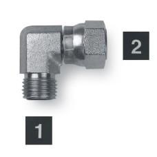 Hydraulic Adapters Elbow, 90°, Male-Female, Swivel, OFS 11/16-16