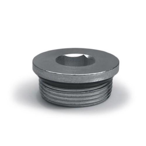 6409 06 Hydraulic Adapters Plug Hex Socket ORB 9 16 18