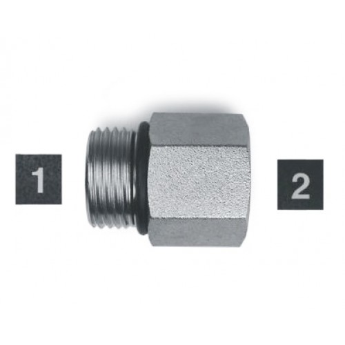 10 AN Male ORB to 10 AN Male ORB Union Adapter