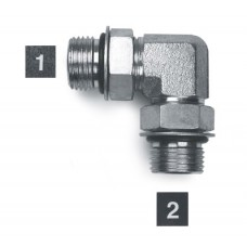 Hydraulic Adapters Elbow, 90°, Male, ORB 9/16-18