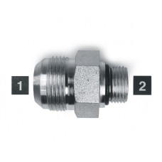 Hydraulic Adapters Union, Male, JIC-ORB, Stainless 1-1/16-12