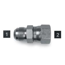 Hydraulic Adapters Union, Male-Female, Swivel, JIC 7/16-20