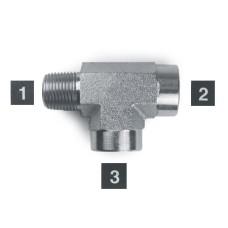 Hydraulic Adapters Tee, Street, M-F-F, Pipe (NPTF) 1/4-18