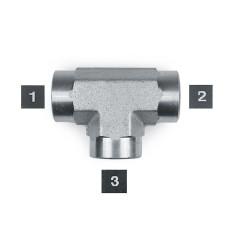 Hydraulic Adapters Tee, Female, Pipe (NPTF) 1/8-27