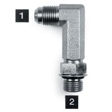 Hydraulic Adapters Elbow, 90°, Male, Long, JIC-ORB 3/4-16