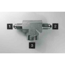 Hydraulic Adapters Tee, Branch, M-M-F, JIC 7/8-14