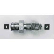 Hydraulic Adapters Union, Male, Bulkhead, Pipe (NPTF)-JIC 3/8-18