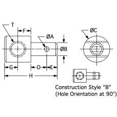 S312C679-109 ZY, Swivels, 5/16-18 RH, 0.312 Stem Diameter, 1.030 Overall Length