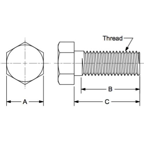 M12-1.75x70 mm Bolt//Hex Head Cap Screws Grade 12mm x 75mm with Lock Nuts 25