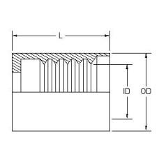HFS303-06, Hydraulic Hose End Fittings, Crimp Ferrule, 3/8, Ferrule