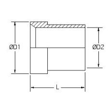 319-12, Hydraulic Hose End Fittings, Sleeve, 3/4, Sleeve, Tube, JIC