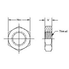 306-16, Hydraulic Adapters, Bulkhead Nut, JIC, 1 5/16-12 , 1.63