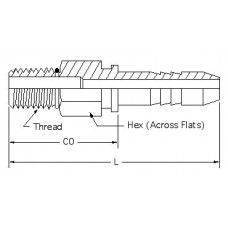 HSM-RB-SL-06-10, Hydraulic Hose End Fittings, Male ORB Stem, 3/8, 7/8-14