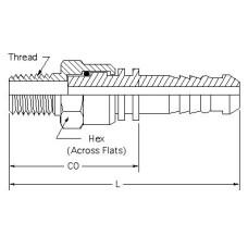 HSM-PT-SW-06-08, Hydraulic Hose End Fittings, Male NPTF Stem, 3/8, 1/2-14