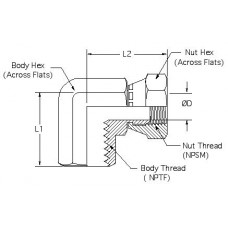 1502-32-32, Hydraulic Adapters, Elbow, 90°, Female, Swivel, Pipe (NPTF) - Pipe (NPSM), 2-11 1/2, 2-11 1/2