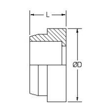 FS319-08, Hydraulic Adapters, Sleeve, Tube, OFS, 1/2 Tube OD, 0.745