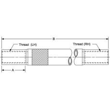TSK-625-22.00, Turnbuckles, 5/8-18 LH and RH Threads, 22.00 Overall Length, 7/8 OD x .065 W DOM Tubing