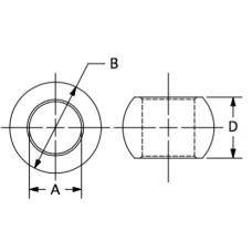 SBR-M8, Balls, Rod End Bearing, Bulk, 8mm, standard