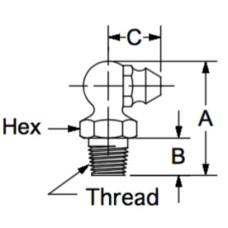 GRZ-4B-1, Fasteners, Zerks, Grease, 1/4-28 Taper Thread,
