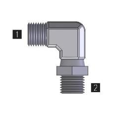 Hydraulic Adapters Elbow, 90°, Male, Swivel, Pipe (NPTF) 3/4-14