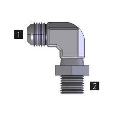 Hydraulic Adapters Elbow, 90°, Male, Swivel, JIC-Pipe (NPTF) 9/16-18