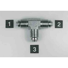 Hydraulic Adapters Tee, Union, Male, JIC 1/2-20