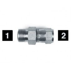 Hydraulic Adapters Union, Male-Female, Swivel, OFS-JIC 7/16-20