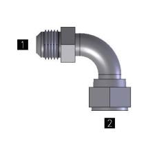 Hydraulic Adapters Tube, Bent, JIC Swivel 90° 3/4-16