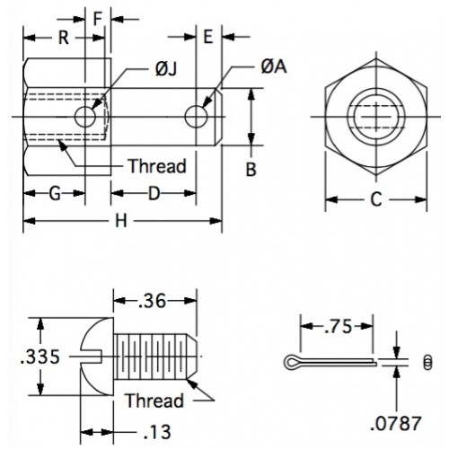Cable End Fittings  Special 0 088 Wire Diameter 0 248 Pin